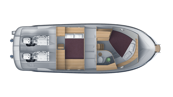 Cabins layout Commuter 35